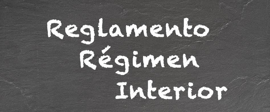 Resultado de imagen de reglamento regimen interno